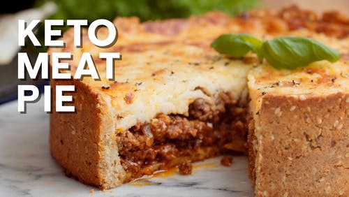 Keto meat pie