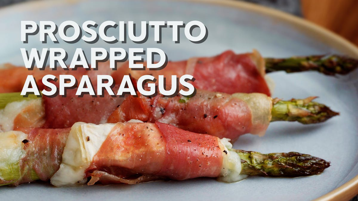 Cooking video: Prosciutto-wrapped asparagus with goat cheese