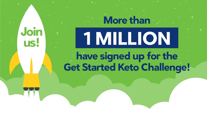 Over 1 million people have completed our keto challenge