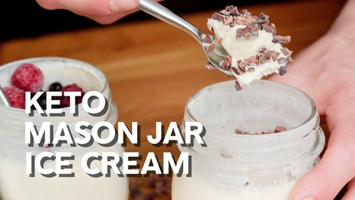 Keto mason jar ice cream