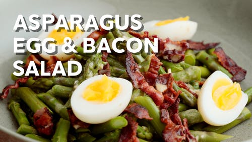 Asparagus, bacon & egg salad