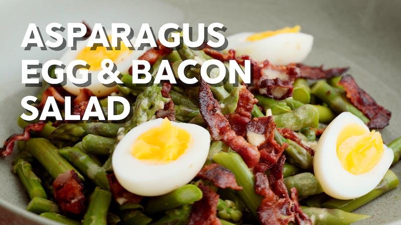 Asparagus, bacon & egg salad