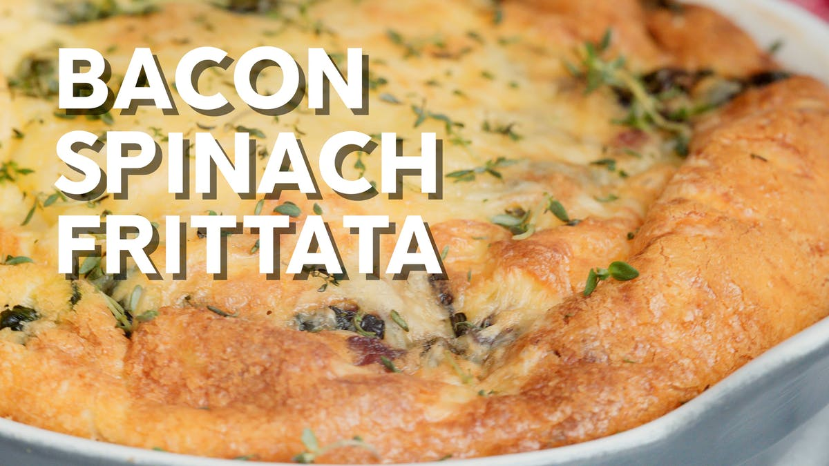 Cooking video: Bacon spinach frittata