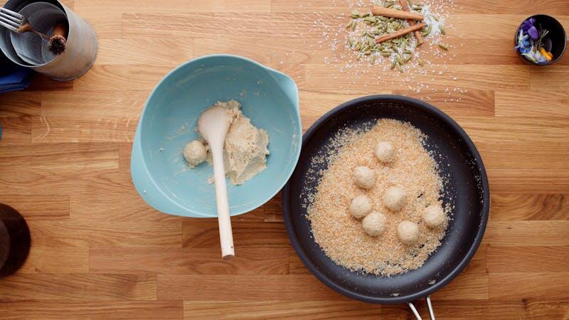 Form into walnut sized balls