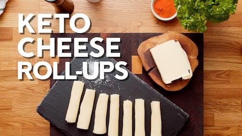 Keto cheese roll-ups