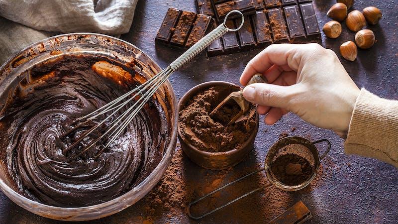 自制巧克力面团
