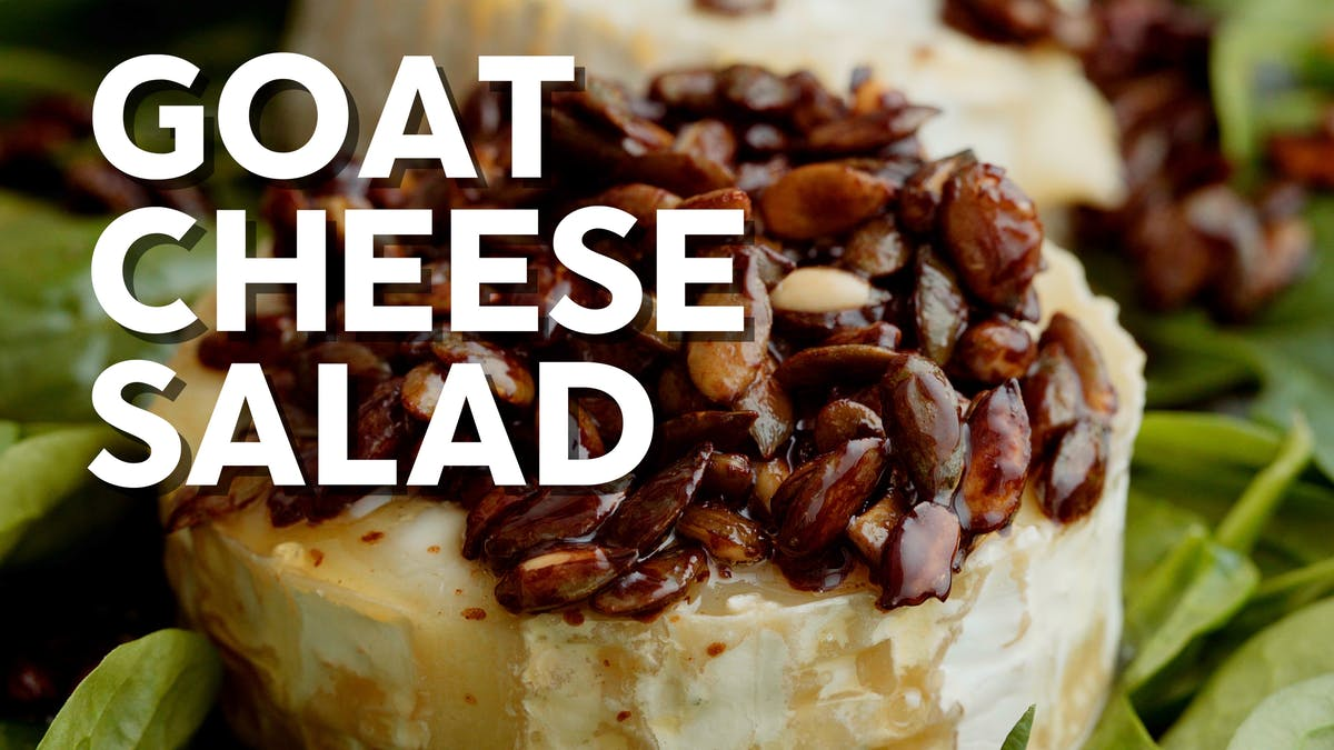 Cooking video: Goat cheese salad with balsamico butter