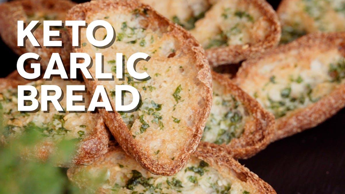Cooking video: Keto garlic bread