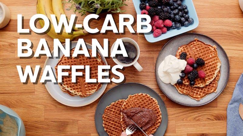 低碳水化合物香蕉华夫饼干