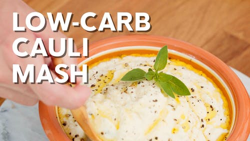 Low-carb cauli mash