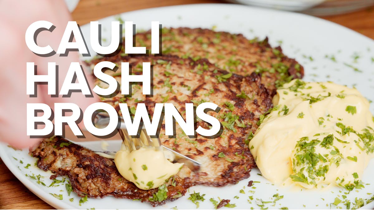 Cooking video: Low-carb cauliflower hash browns