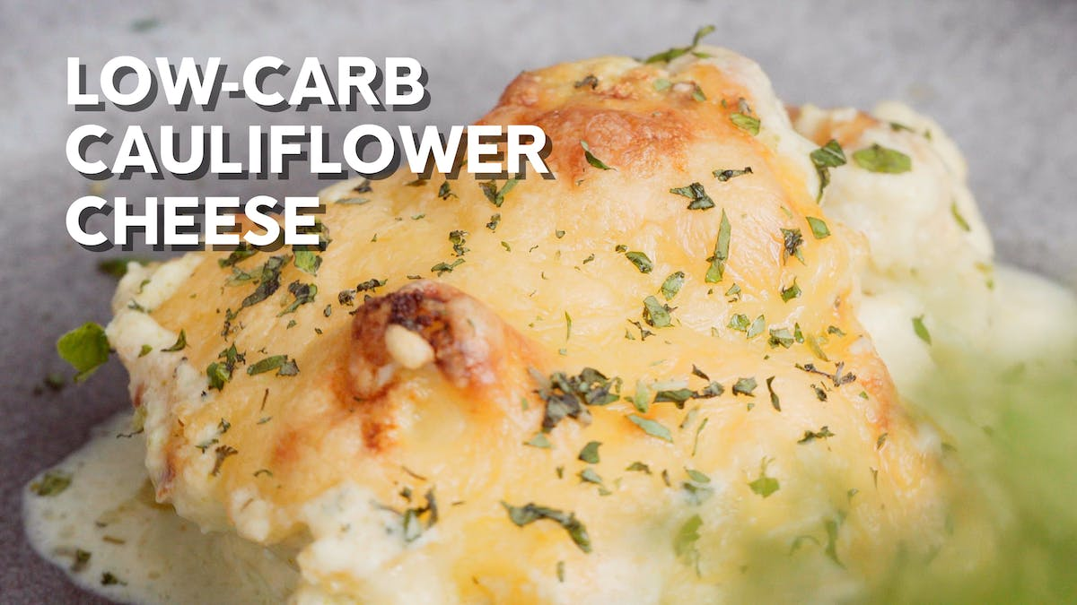 Recipe video: Low-carb cauliflower cheese