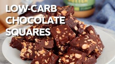 Low-carb chocolate squares