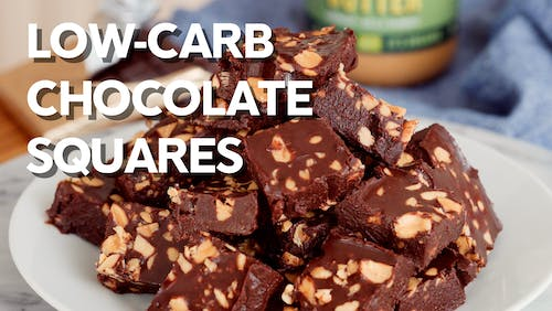 Low-carb chocolate squares