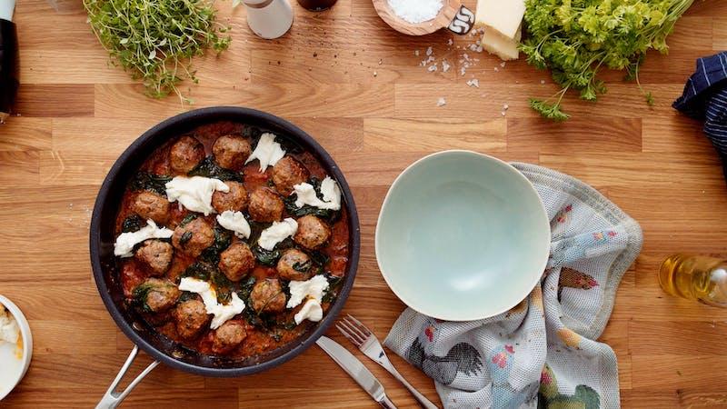 Italian keto meatballs with mozzarella cheese