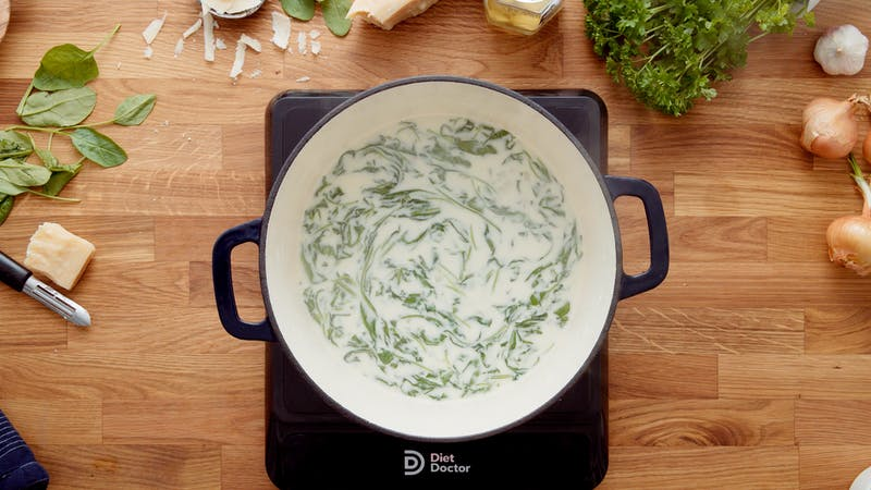 Spinach and artichoke soup