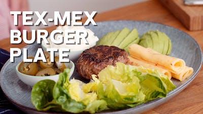 Tex-Mex burger plate
