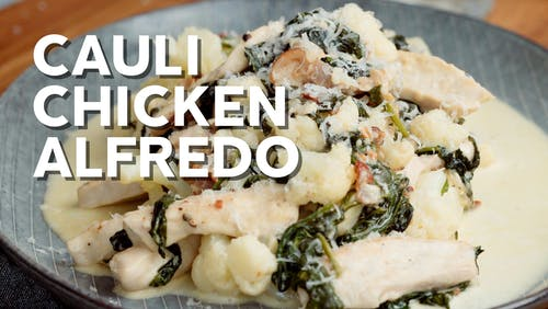 Cauli chicken Alfredo