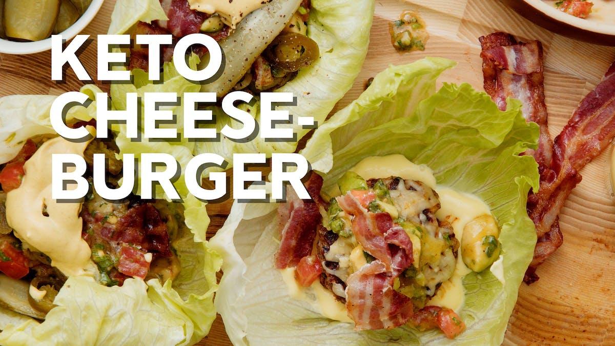 Keto cheeseburger