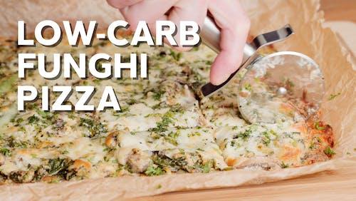 Low-carb funghi supremo pizza