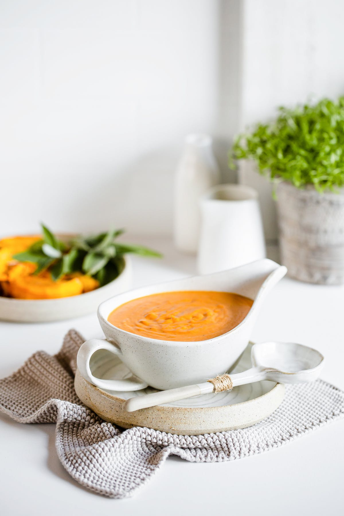 Roasted pumpkin chipotle cream sauce