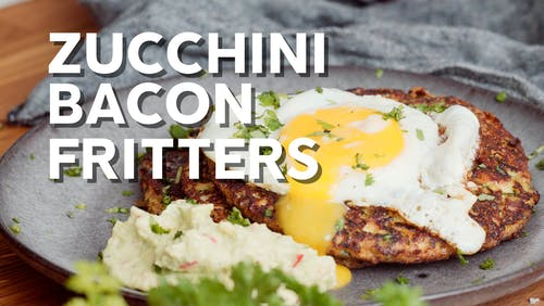 Zucchini bacon fritters