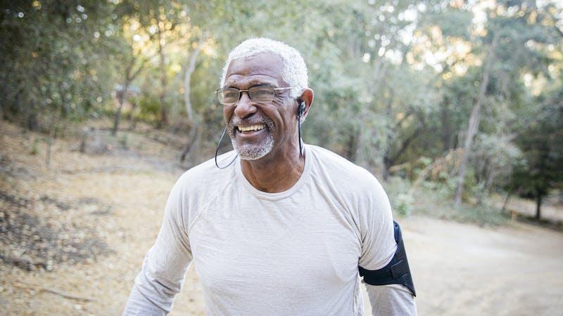 senior-black-man-woods