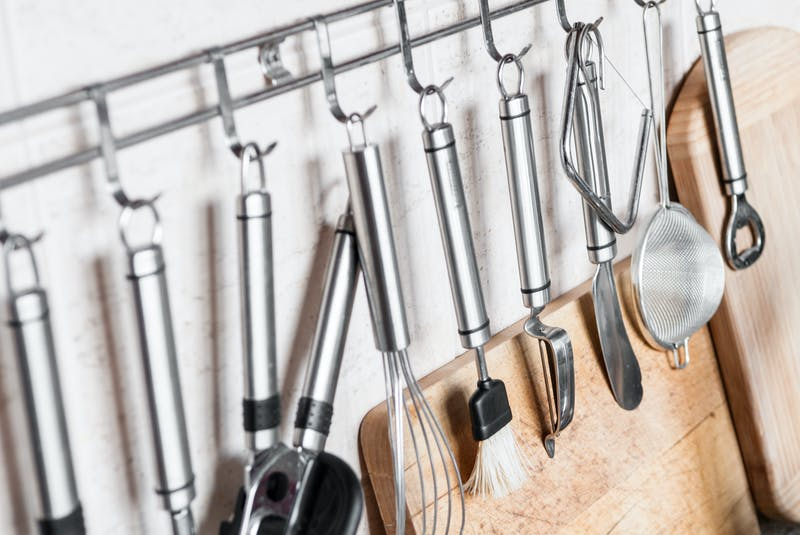 Basic utensils for cooking at home