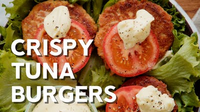 Crispy tuna burgers