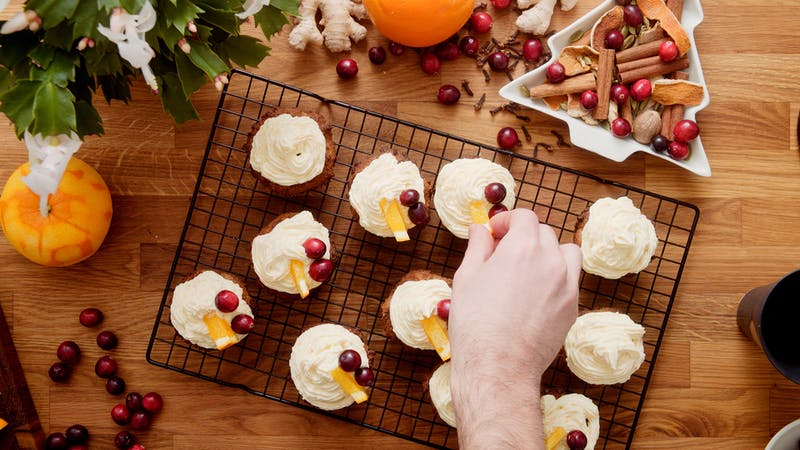 Keto Christmas cupcakes