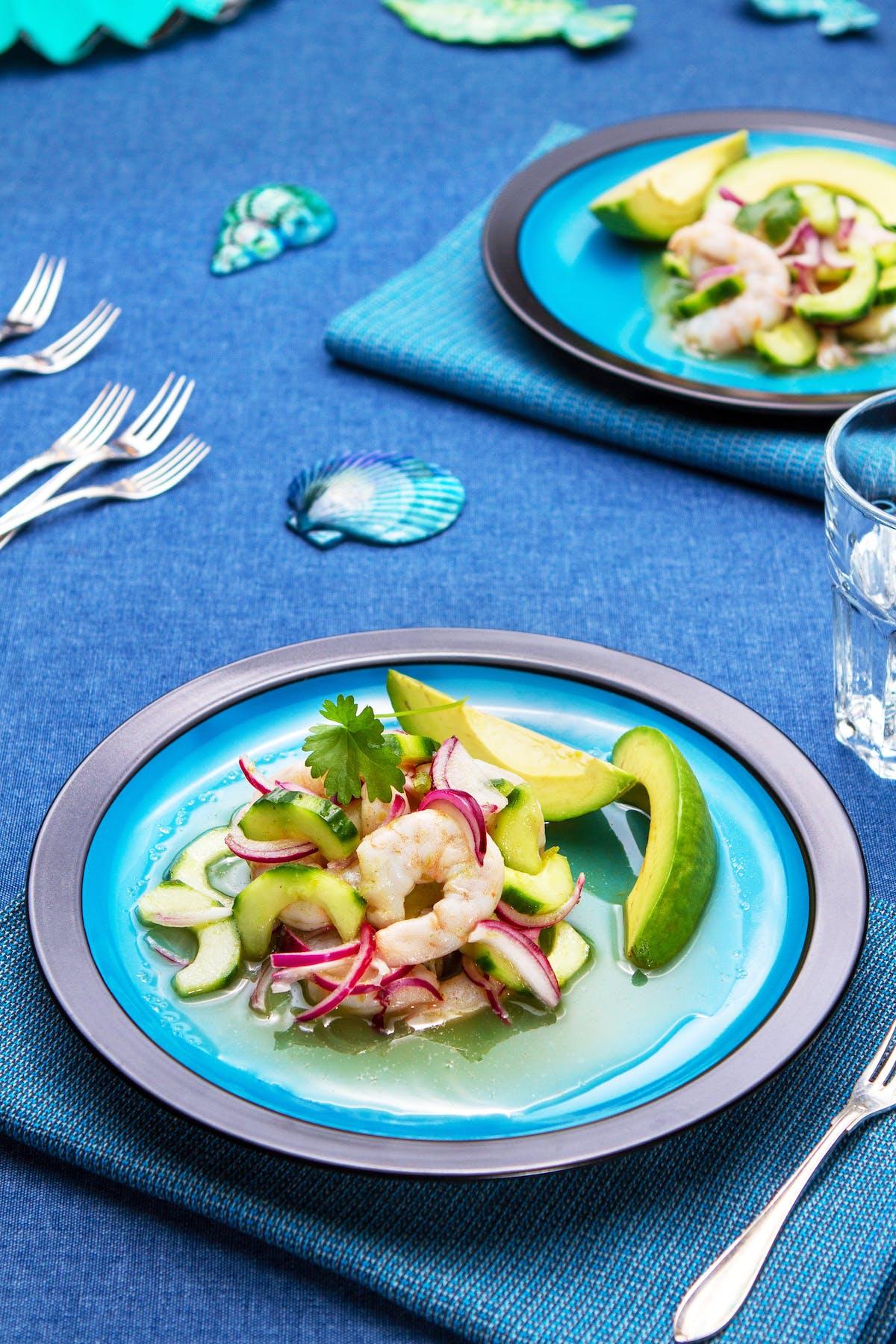 Mexican shrimp ceviche (aguachile)