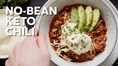 No-bean keto chili