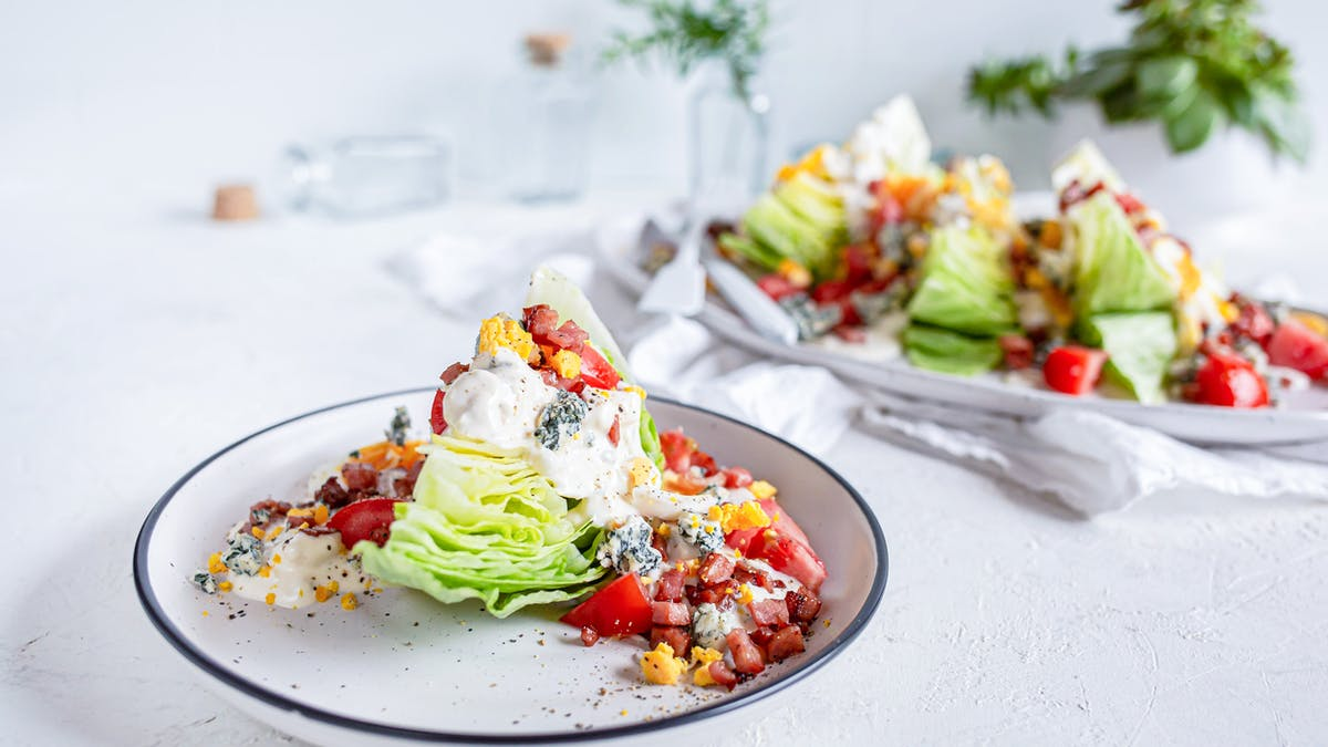 Keto wedge salad