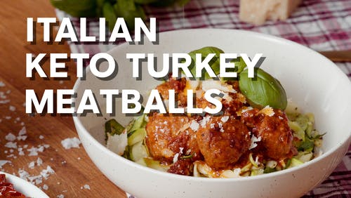 Italian keto turkey meatballs