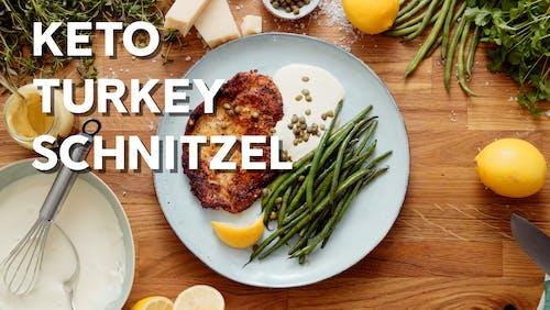 Keto turkey schnitzel