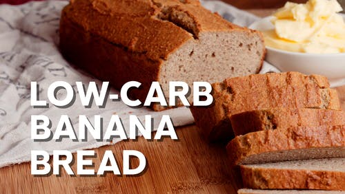 Low-carb banana bread