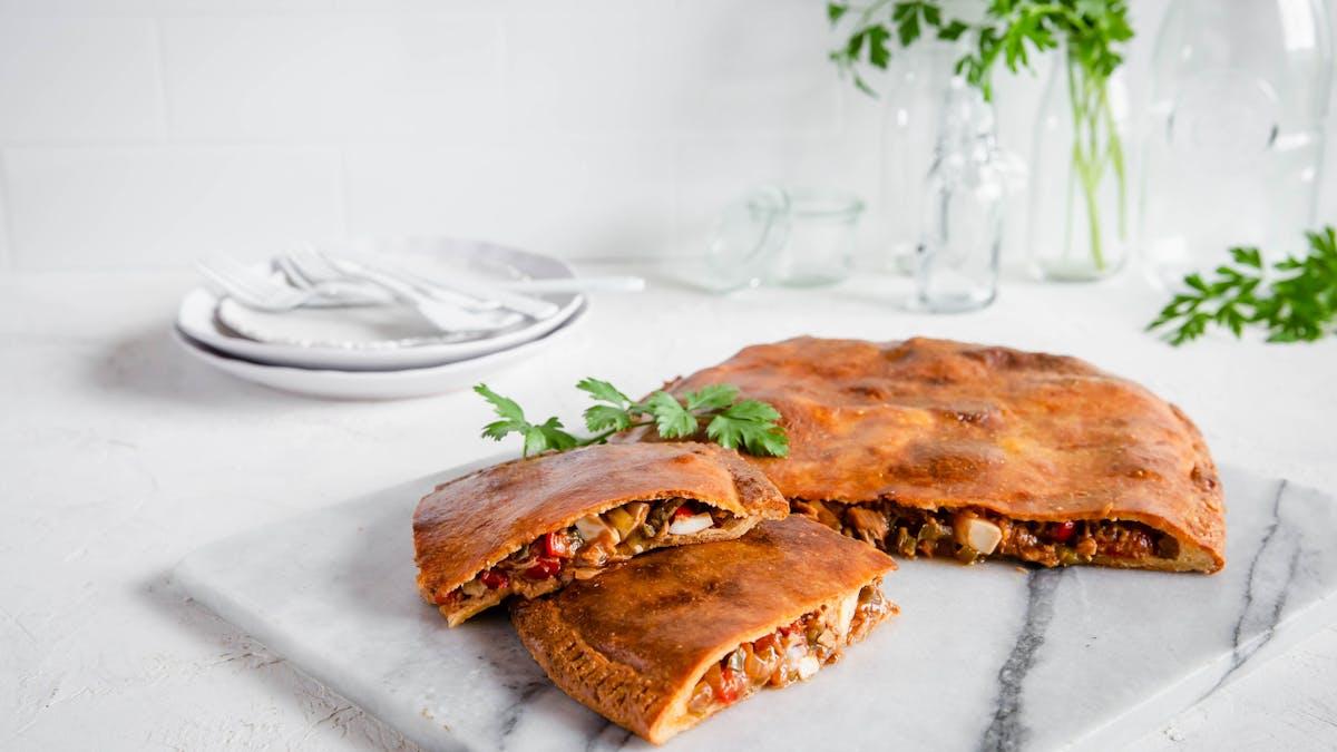Low-carb Spanish tuna pie (empanada gallega)