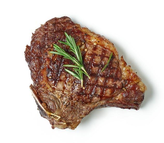 grilled juicy beef steak meat
