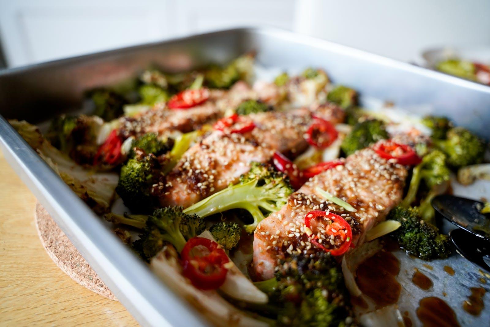 Teriyaki Salmon Sheet Pan – Low-Carb Recipe – Diet Doctor