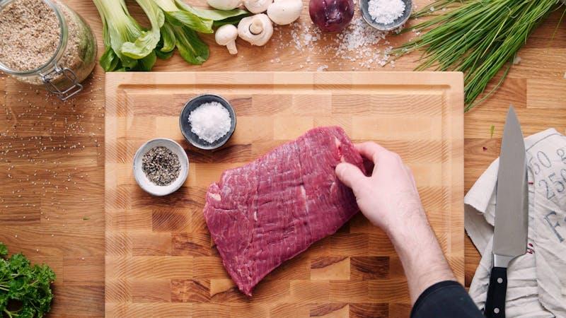Asian flank steak salad
