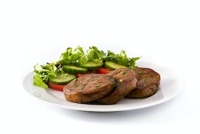 Seitan with vegetables