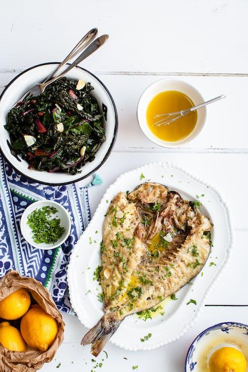 Taverna style Greek butterflied sea bass