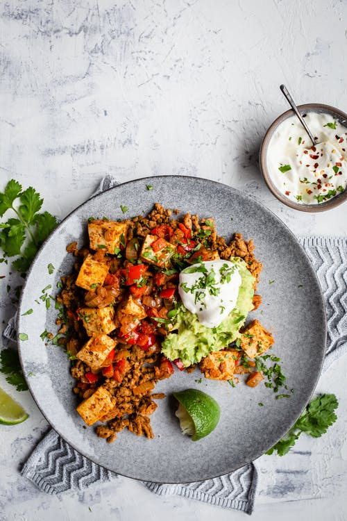 Egg-free low-carb Mexican breakfast scramble