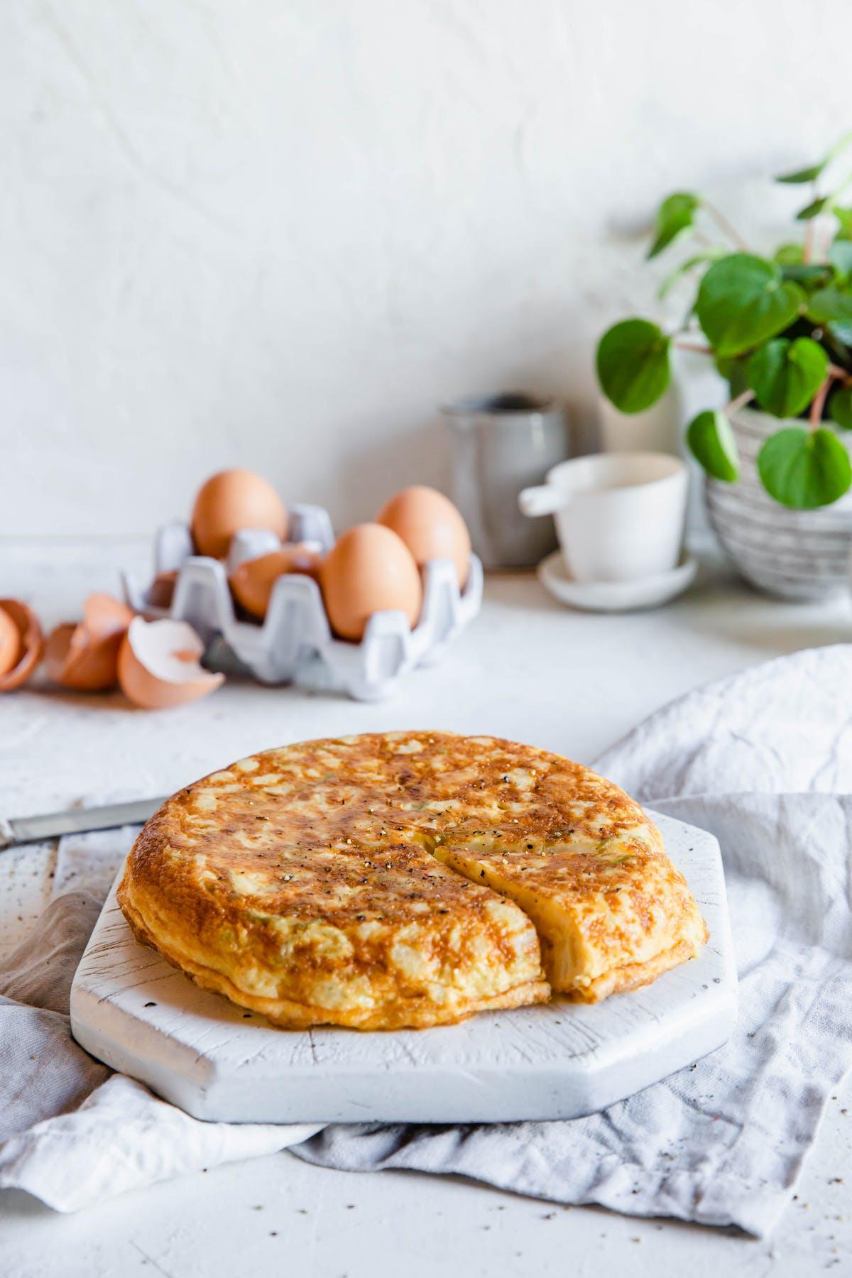 Spanish low-carb tortilla