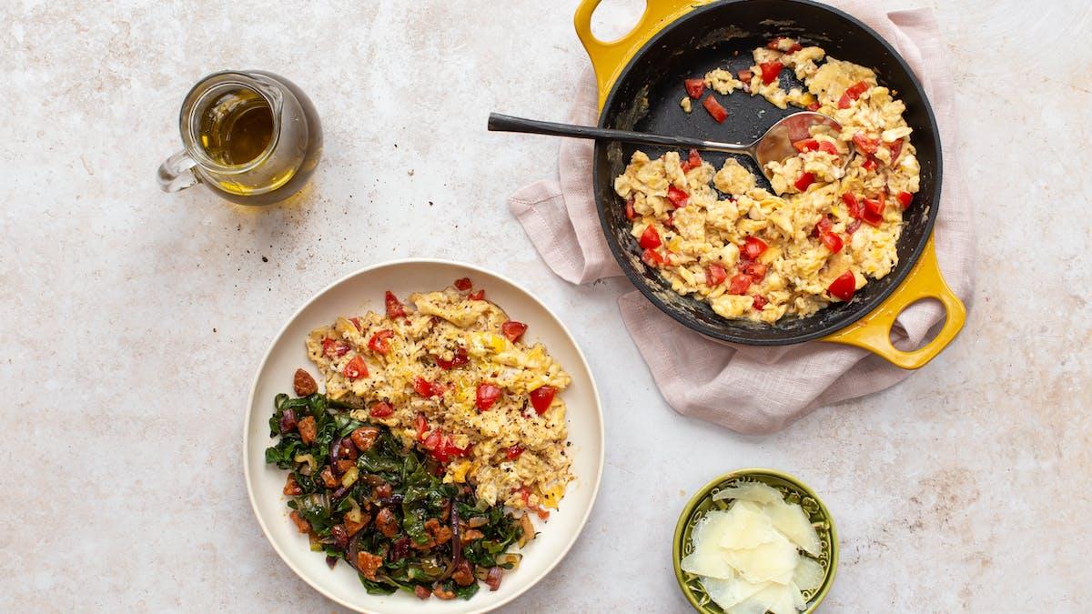 Spanish scramble with chorizo