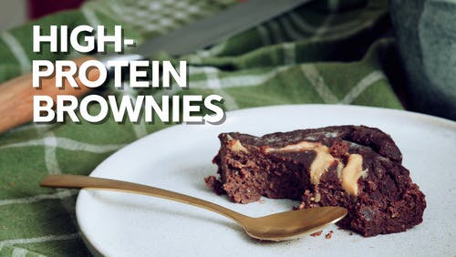 High-protein brownies