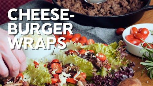 Keto bacon cheeseburger wraps