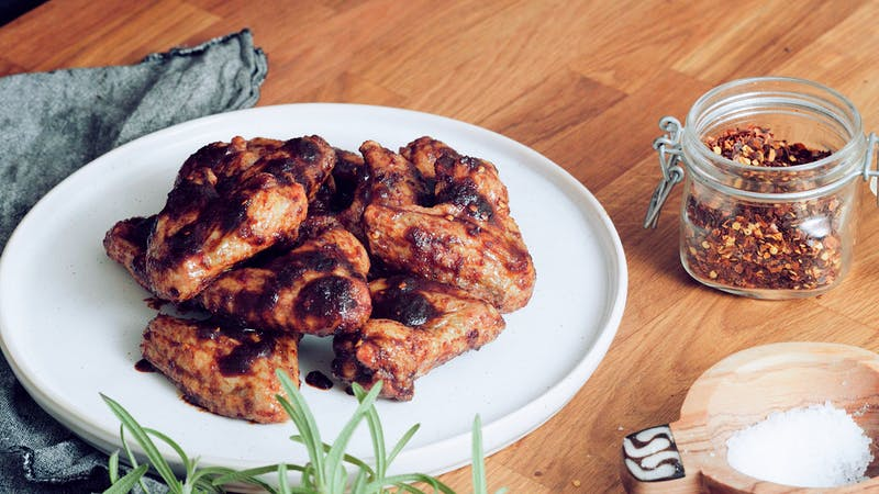Sweet and sticky keto chicken wings