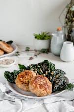 Turkey apple patties with kale