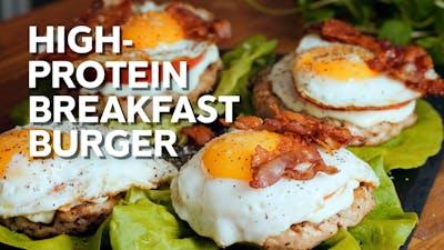 High-protein breakfast burger